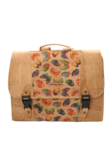 The little CAPTAIN - Sustainable schoolbag in wonderful cork with butterlfy print