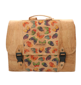 The little CAPTAIN - Schoolbag natural/butterfly print