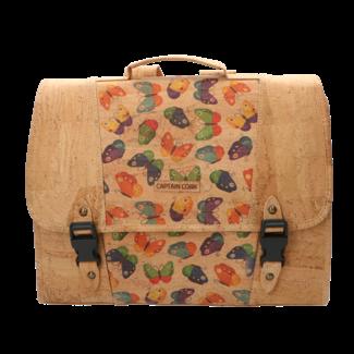 Captain Cork The little CAPTAIN - Schoolbag natural/butterfly print