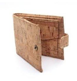 Captain Cork Stylish men's wallet in black cork leather