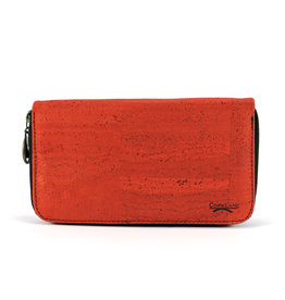 Captain Cork Purse for woman Luxurious edition in bright red