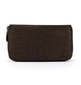 DEBORAH-Damesportefeuille luxe in donker bruin