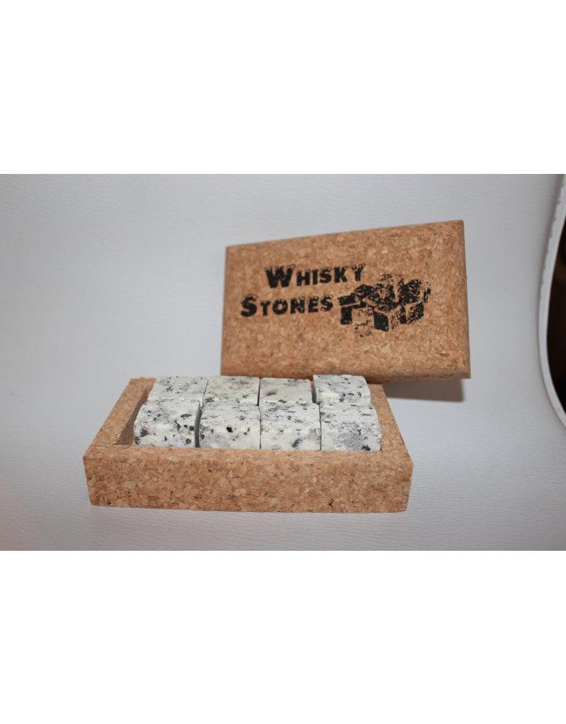 Whiskey stenen met kurken doos