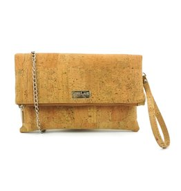 CHARMY - Shoulder bag with chain in natural color