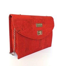 CHARMY - Handtasje met ketting rood
