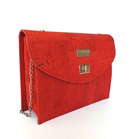 CHARMY - Shoulder bag with chain in red