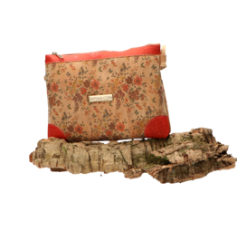 Captain Cork LORE - Romantic shoulder bag with tiny flowers and red details/Captain Cork Label