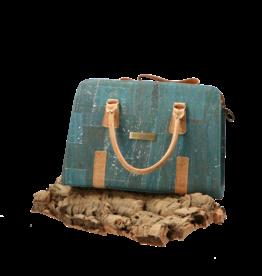 Captain Cork MARIJKE - Beautiful cork hand bag in turquoise / Captain Cork Label