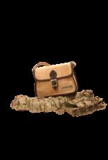 Captain Cork EVY - Kleine stoere schoudertas in naturel en donkerbruin/Captain Cork Label