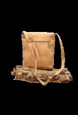 Captain Cork BRITT - Nice shoulder bag with flap in natural cork colour/Captain Cork Label