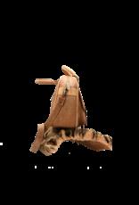 Captain Cork PENELOPE - Vegan handtas in teddy bruin uit kurk , 4 vakken met ritsen en met schouderriem