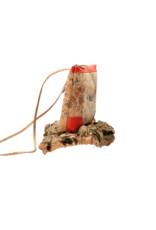 Captain Cork LORE - Romantic shouder bag in natural cork colour, decorated with tiny flowers and red details/Captain Cork Label