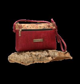 Captain Cork SHANNA- The corky shoulder bag in deep red / Captain Cork Label