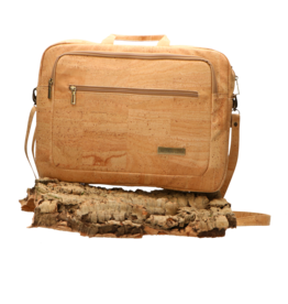 Captain Cork LEWIE - De vegan laptoptas in natuurlijke kurk/Captain Cork Label