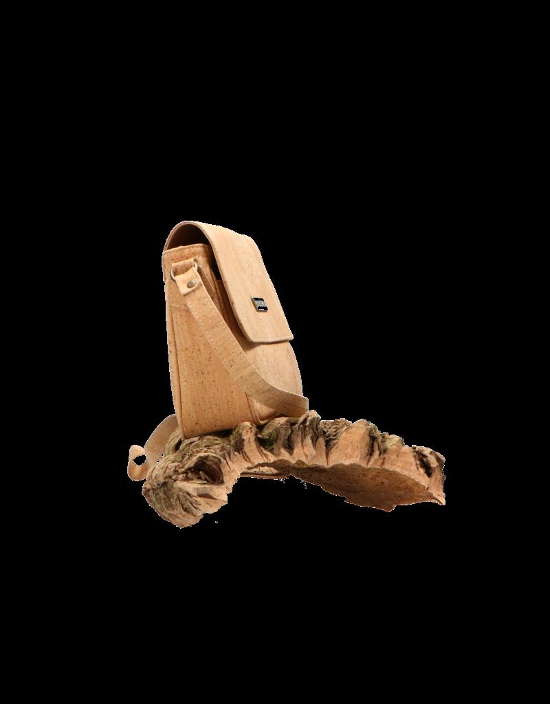 Captain Cork CHARLOTTE - Elegante, eenvoudige schoudertas in natuurlijke kurkkleur