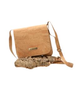 Captain Cork TESSA - Cool vegan shoulder bag with flap/Captain Cork Label