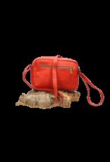 Captain Cork ALEXIA - Beautiful red shoulder bag with frivolous flowerprint/Captain Cork Label