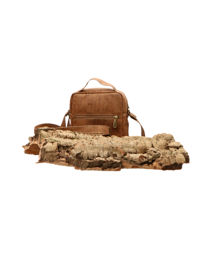 Captain Cork KAY - Cork shoulder bag with extra pocktes