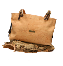 Captain Cork JADE - Large cork bag with buckles / Captain Cork Label