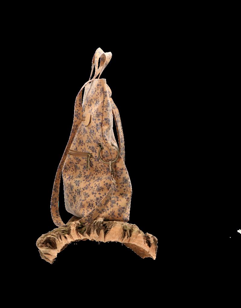 Captain Cork CRISTINA- Prachtige vouwtas in kurk met vrolijke print