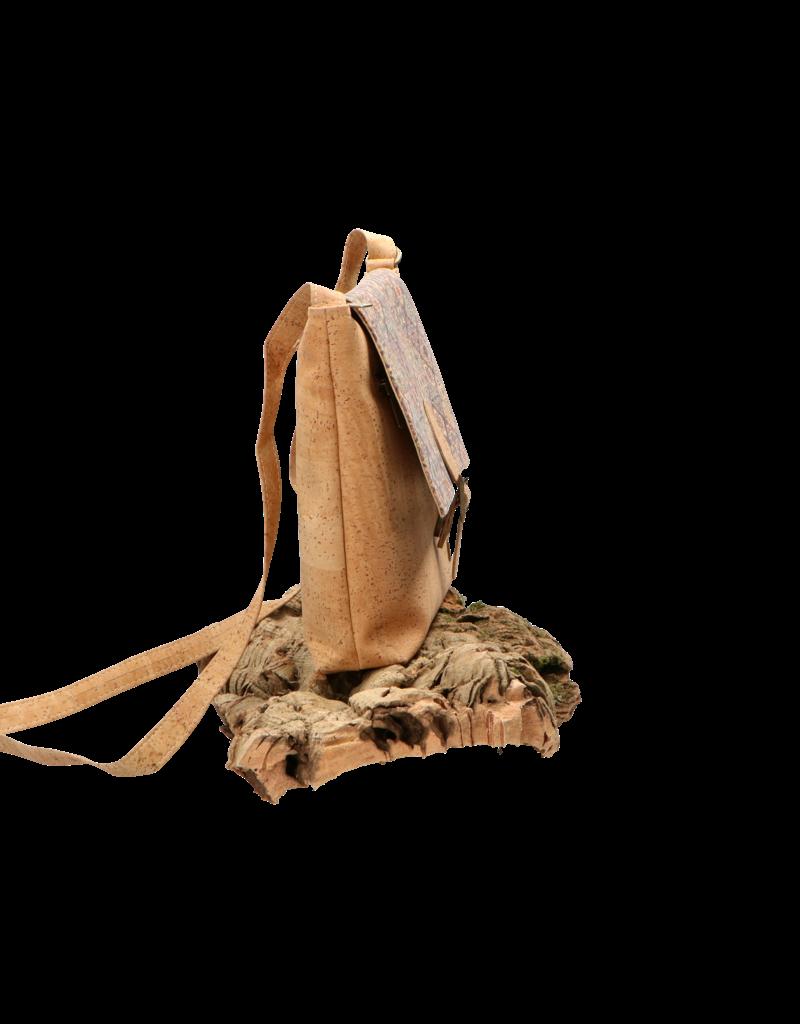 Captain Cork SONIA - Stoere schoudertas met elegante flap / Captain Cork Label