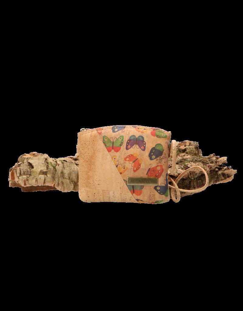 Captain Cork VLINDER - Schattige kleine schoudertas voor dromerige vrouwen / Captain Cork Label