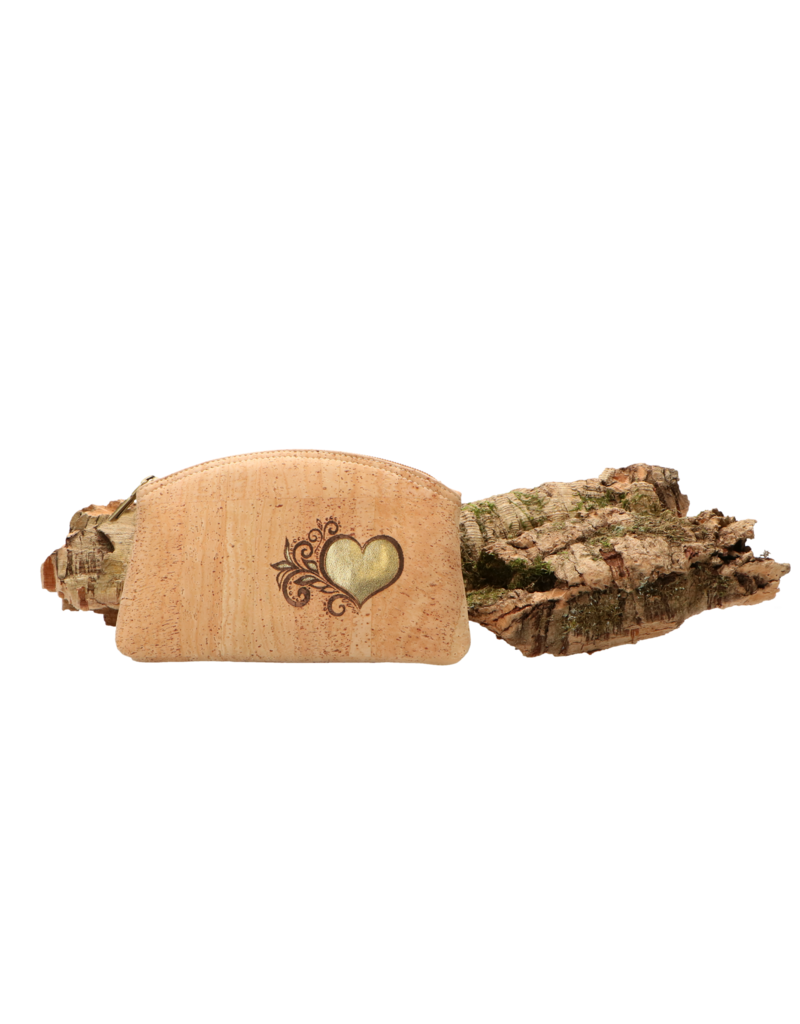 Captain Cork HEART - The hearty make-up bag (gold) / Captain Cork Label