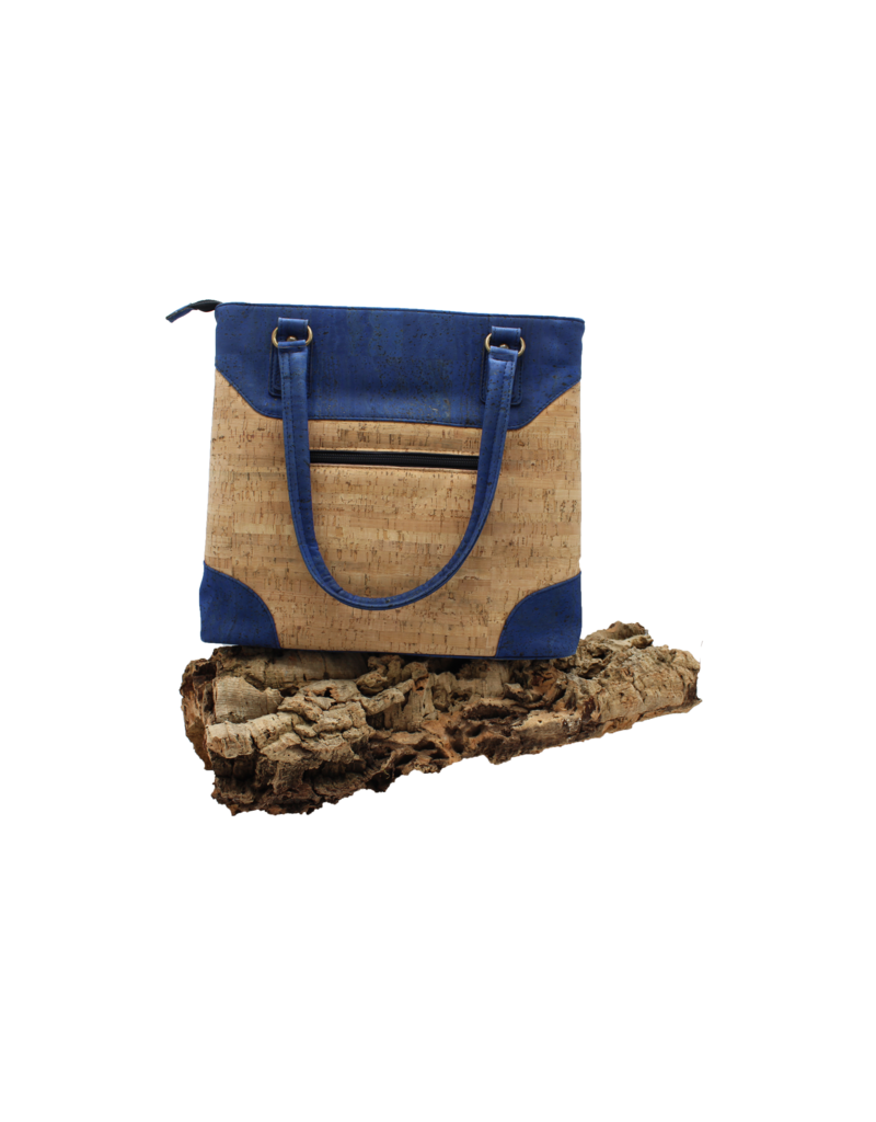 Captain Cork SOFIA - Stylish cork purse Blue with lots of storage