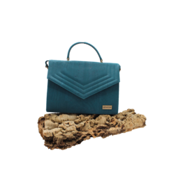 Captain Cork KATE - Stijlvolle handtas turquoise / Captain Cork Label
