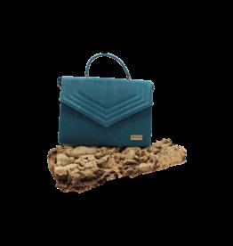 Captain Cork KATE - Stylish handbag turquoise / Captain Cork Label