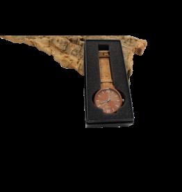 Captain Cork Horloge hout naturel kurken polsbanden
