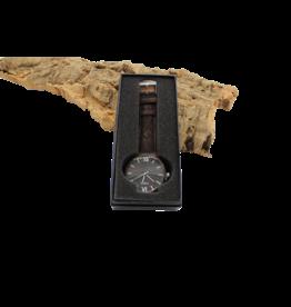 Captain Cork Horloge hout donkerbruine kurken polsbanden