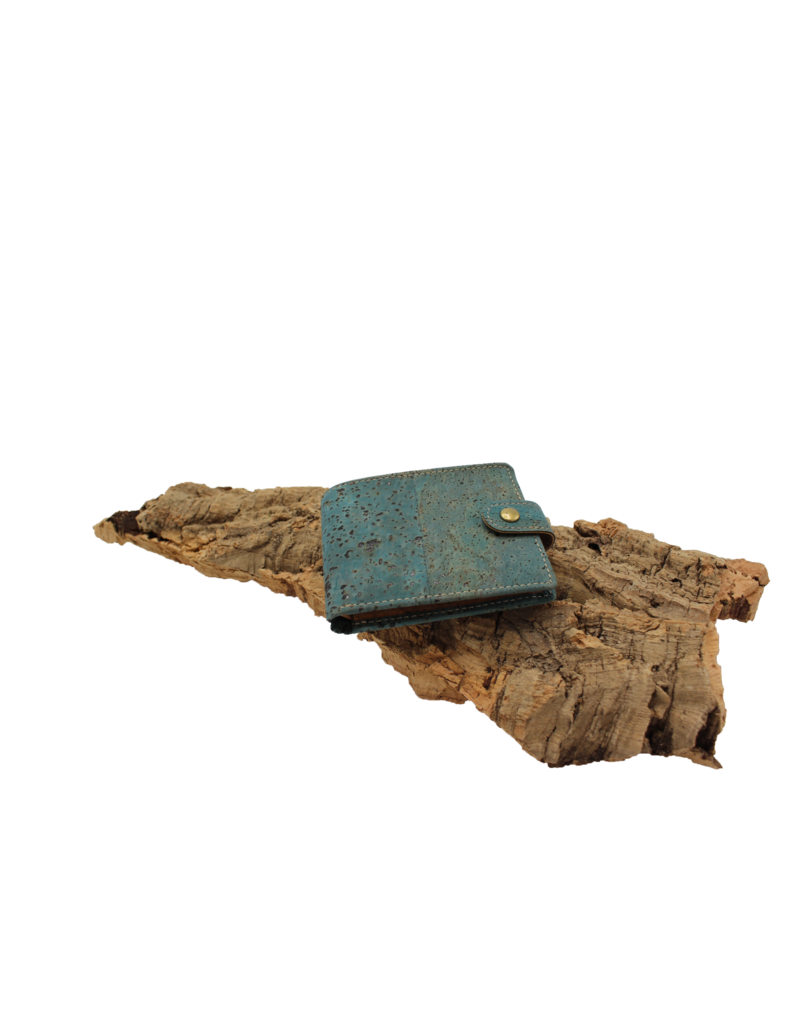 Captain Cork DAVE- Stylish men's wallet in Turquoise