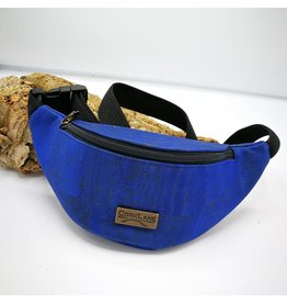 Captain Cork KAREL- Cool Cork Belt Bag Blue