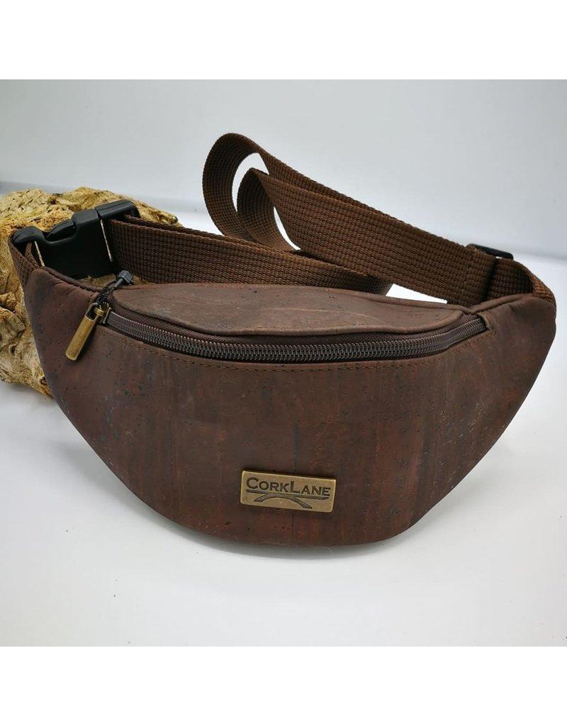 Captain Cork KAREL- Cool Cork Belt Bag Brown