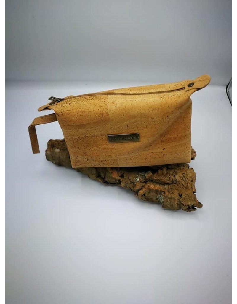 Captain Cork JITSKE - Make-up bag met polsbandje NATUUR