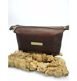 Captain Cork JITSKE - Make-up bag with bracelet DARK BROWN