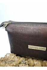 Captain Cork JITSKE - Make-up bag with bracelet DARK BROWN
