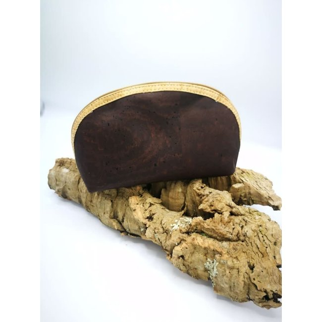 Captain Cork METTE- Make-up Bag DARK BROWN