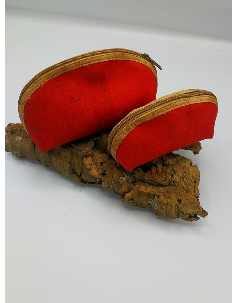 Captain Cork METTE- Make-up Bag BRIGHT RED