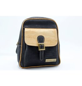 Captain Cork BILLY - Urban Backpack black / Captain cork label