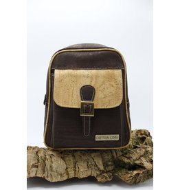 Captain Cork BILLY - Urban Backpack brown / Captain cork label