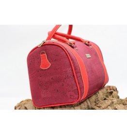 Captain Cork MAINOC - Rurale Liefde met deze prachtige kurken handtas in passioneel rood