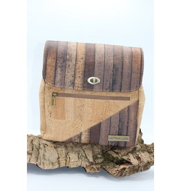Captain Cork BROOKLYN - Urban Backpack Wooden finish / Captain cork label