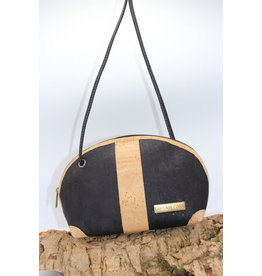 Captain Cork Caithlynn - Crescent moon bag in black cork