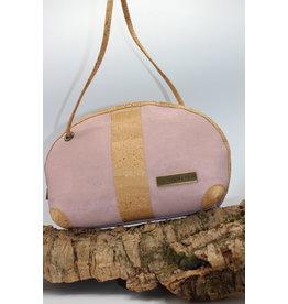 Captain Cork Caithlynn - Crescent moon bag in pink cork