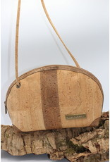 Captain Cork Caithlynn - Crescent moon bag in natural cork