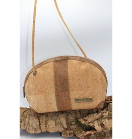 Captain Cork Caithlynn - Crescent moon bag in natural cork