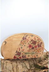 Captain Cork CATHY - Crescent moon bag with floral print