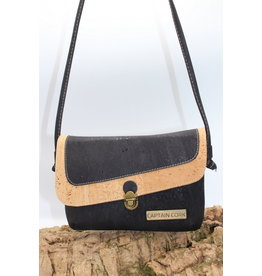 Captain Cork VEERLE - The corky black shoulder bag / Captain Cork Label